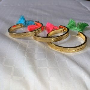 Pack of 3 gold Lilly Pulitzer bangles